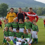 mužstvo najmladších v dresoch