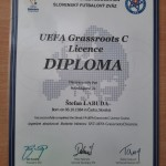 Máme troch držiteľov  trénerskej licencie UEFA Grassroots C !